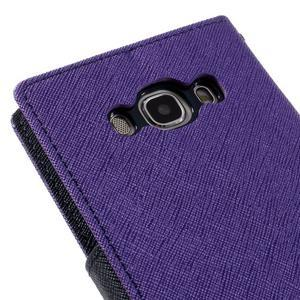 Diary PU kožené puzdro pre mobil Samsung Galaxy J5 (2016) - fialové - 5