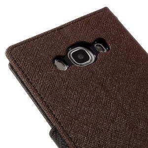 Diary PU kožené puzdro pre mobil Samsung Galaxy J5 (2016) - hnedé - 5