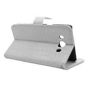 Croco peňaženkové puzdro pre Samsung Galaxy J5 (2016) - biele - 5