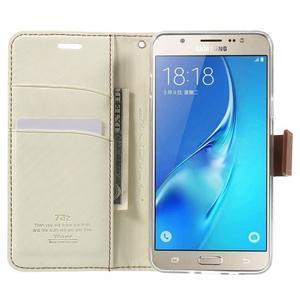 Gentle PU kožené peněženkové pouzdro na Samsung Galaxy J5 (2016) - bílé - 5
