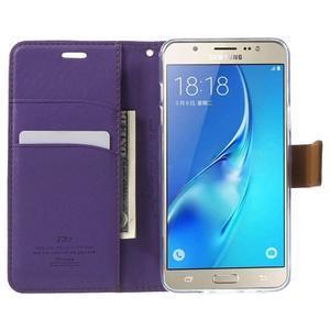 Gentle PU kožené peněženkové pouzdro na Samsung Galaxy J5 (2016) - fialové - 5