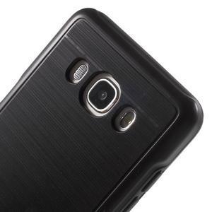 Gélový obal s plastovou výstuhou pre Samsung Galaxy J5 (2016) - čierný - 5