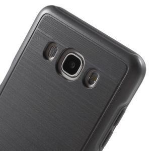 Gélový obal s plastovou výstuhou pre Samsung Galaxy J5 (2016) - šedý - 5