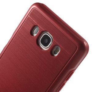 Gélový obal s plastovou výstuhou pre Samsung Galaxy J5 (2016) - červený - 5