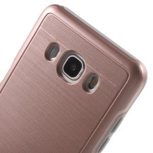 Gélový obal s plastovou výstuhou pre Samsung Galaxy J5 (2016) - ružový - 5