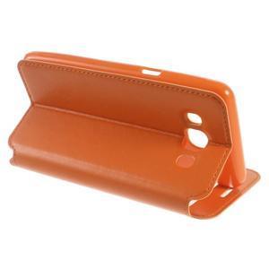 Royal puzdro s okienkom pre Samsung Galaxy J5 (2016) - oranžové - 5
