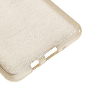 Brushed gélový obal pre mobil Samsung Galaxy J5 (2016) - champagne - 5