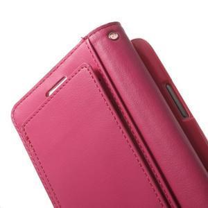 RichDiary PU kožené pouzdro na Samsung Galaxy S3 - růžové - 5