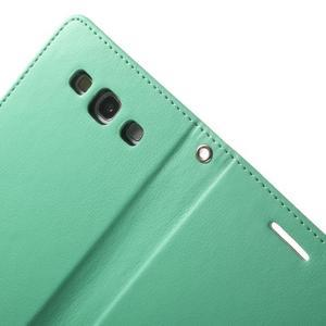 RichDiary PU kožené pouzdro na Samsung Galaxy S3 - azurové - 5
