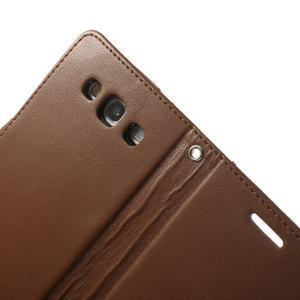 RichDiary PU kožené pouzdro na Samsung Galaxy S3 - hnědé - 5