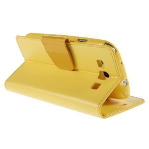 Diary PU kožené pouzdro na mobil Samsung Galaxy S3 - žluté - 5