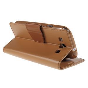 Diary PU kožené puzdro pre mobil Samsung Galaxy S3 - hnedé - 5