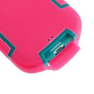 Odolné silikonové puzdro pre mobil Samsung Galaxy S3 - rose - 5