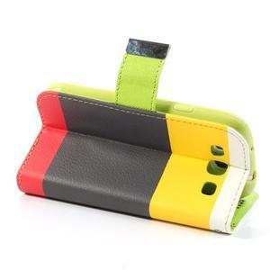 Tricolors PU kožené pouzdro na mobil Samsung Galaxy S3 - černý střed II - 5