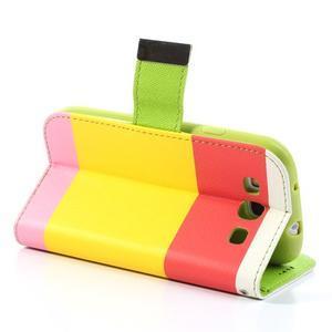 Tricolors PU kožené pouzdro na mobil Samsung Galaxy S3 - žlutý střed - 5