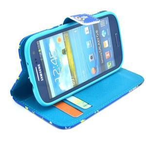 Pictu puzdro pre mobil Samsung Galaxy S3 - sova s vousem - 5