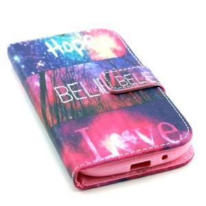 Knížkové puzdro pre mobil Samsung Galaxy S3 - believe - 5