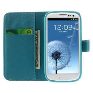 Knížečkové puzdro pre Samsung Galaxy S3 - kvitnúca vetvička - 5