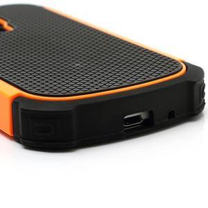 Outdoor odolný obal pre mobil Samsung Galaxy S3 mini - oranžový - 5