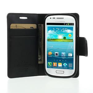 Diary PU kožené puzdro pre Samsung Galaxy S3 mini - čierne - 5