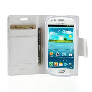 Diary PU kožené pouzdro na Samsung Galaxy S3 mini - bílé - 5