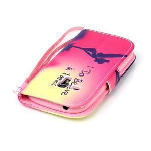 Knížkové PU kožené puzdro pre Samsung Galaxy S3 mini - víla - 5