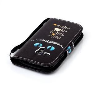 Knížkové PU kožené pouzdro na Samsung Galaxy S3 mini - nedotýkat se - 5