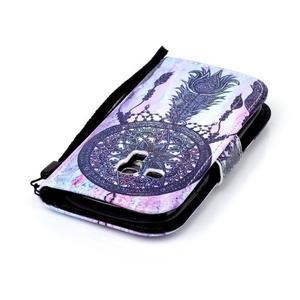 Knížkové PU kožené puzdro pre Samsung Galaxy S3 mini - lapač snov - 5