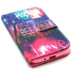 Standy peňaženkové puzdro pre Samsung Galaxy S4 - believe - 5