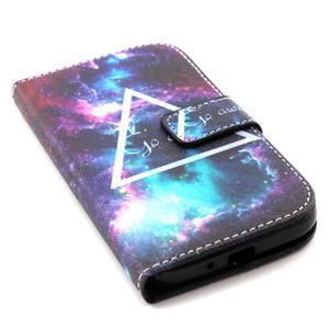 Standy peňaženkové puzdro pre Samsung Galaxy S4 - triangl - 5