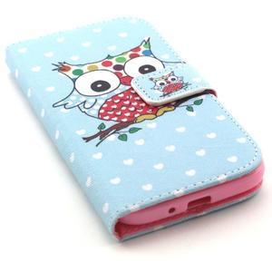 Standy peňaženkové puzdro pre Samsung Galaxy S4 - sova - 5