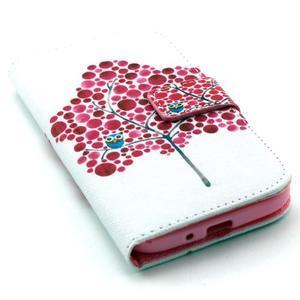 Standy peňaženkové puzdro pre Samsung Galaxy S4 - soví strom - 5
