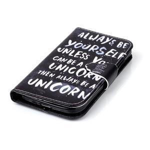 Emotive knížkové puzdro pre Samsung Galaxy S4 - unicorn - 5