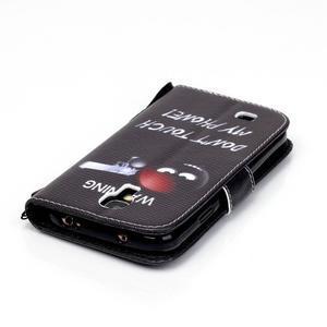 Knížkové koženkové puzdro pre Samsung Galaxy S4 - nesiahat - 5