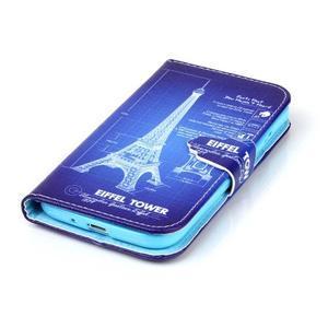 Emotive knížkové puzdro pre Samsung Galaxy S4 - Eiffelova veža - 5