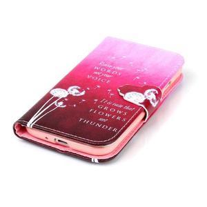 Emotive knížkové puzdro pre Samsung Galaxy S4 - púpavy - 5