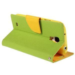 Sunny PU kožené puzdro pre mobil Samsung Galaxy S4 - zelené - 5