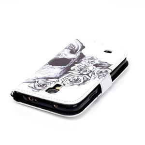 Knížkové koženkové pouzdro na Samsung Galaxy S4 - lebka - 5