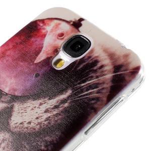 Ultratenký slim gelový obal na Samsung Galaxy S4 - cool kočka - 5