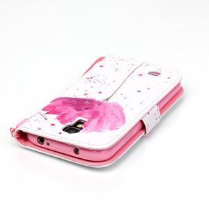 Knížkové koženkové puzdro pre Samsung Galaxy S4 - flower - 5