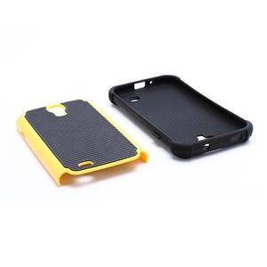 Outdoor odolný silikonový obal na Samsung Galaxy S4 - žlutý - 5
