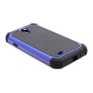 Outdoor odolný silikonový obal pre Samsung Galaxy S4 - tmavomodrý - 5