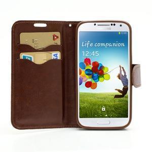 Kvetinové puzdro pre mobil Samsung Galaxy S4 - biele pozadie - 5