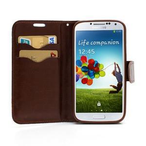 Kvetinové puzdro pre mobil Samsung Galaxy S4 - modré pozadie - 5