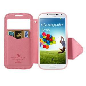 Okýnkové peněženkové pouzdro na mobil Samsung Galaxy S4 - rose - 5