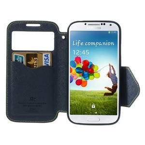 Okýnkové peněženkové pouzdro na mobil Samsung Galaxy S4 - zelené - 5