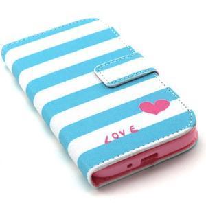 Standy peňaženkové puzdro pre Samsung Galaxy S4 - love - 5