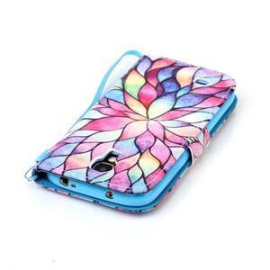 Diary peňaženkové puzdro pre mobil Samsung Galaxy S4 mini - farebné lístky - 5