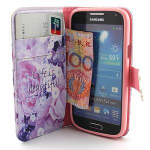 Diaryleather puzdro pre mobil Samsung Galaxy S4 mini - beatiful - 5
