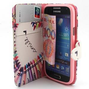 Diaryleather puzdro pre mobil Samsung Galaxy S4 mini - smile - 5